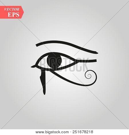 Sun Eye Of Horus - Reverse Moon Eye Of Thoth Eye Of Horus - Vector Image Ancient Egyptian Symbol Of