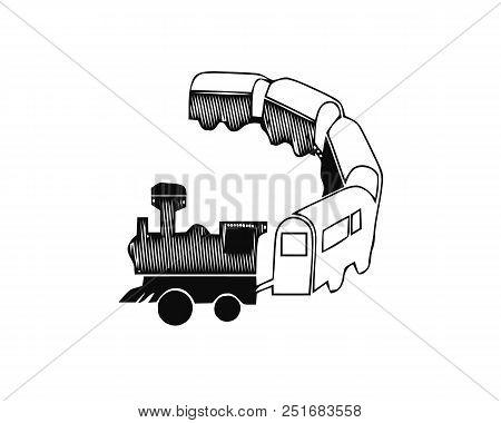 Passenger Train Icon. Simple Illustration Of Passenger Train Vector Icon For Web.