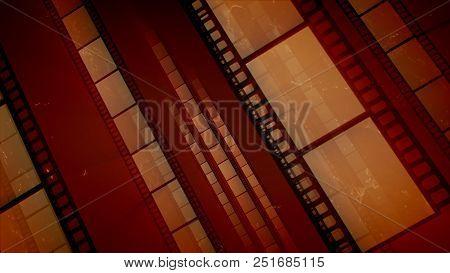 Exciting Brown Retro Film Stripes
