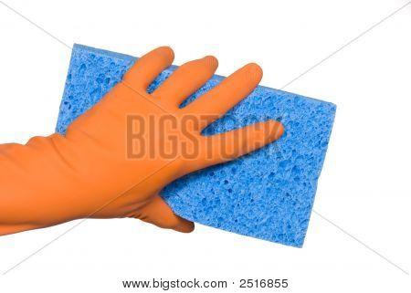 Washing Glove And Sponge