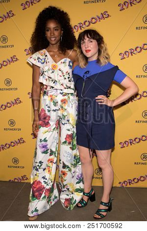 CHICAGO - JUL 25: Singer Kelly Rowland (L) and Refinery29 co-founder Piera Gelardi attend Refinery29's