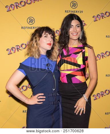 CHICAGO - JUL 25: Ashley Myles (L) and Refinery29 co-founder Piera Gelardi (L) and attend Refinery29's