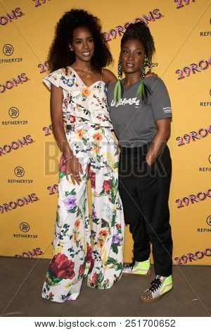 CHICAGO - JUL 25: Singer Kelly Rowland (L) and actress  Yolonda Ross attend Refinery29's