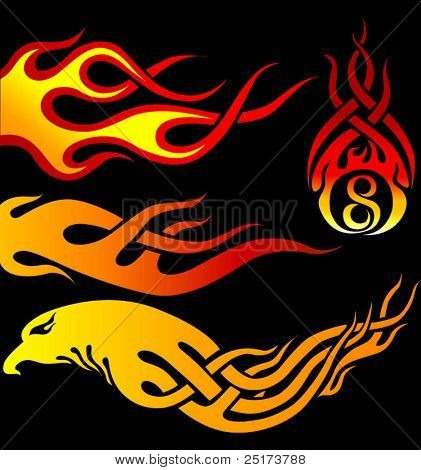 Various shape of flames