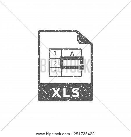 Spreadsheet File Icon In Grunge Texture. Vintage Style Vector Illustration.