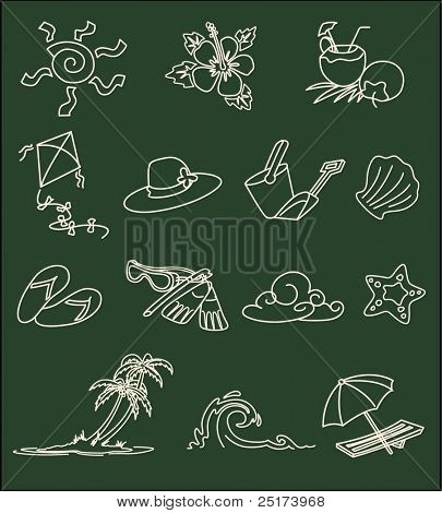 collection of summer design elements