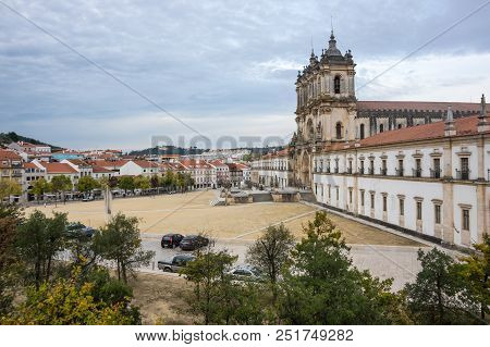 The Alcobaca Monastery Is A Mediaeval Roman Catholic Monastery Located In The Town Of Alcobaca, Port