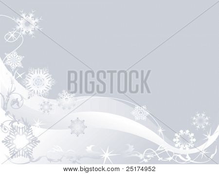 abstract vector winter background with snowflakes