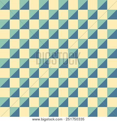 Emerald Green And Golden Colors Repeating Square Tiles For Fashion Textile Cloth Backgrounds Vector Background