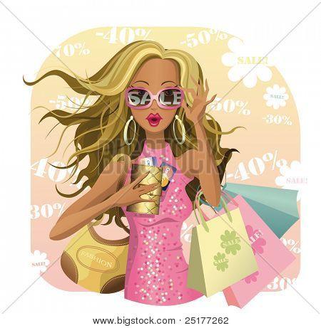 Beauty design for SALE! Glamour vector girl