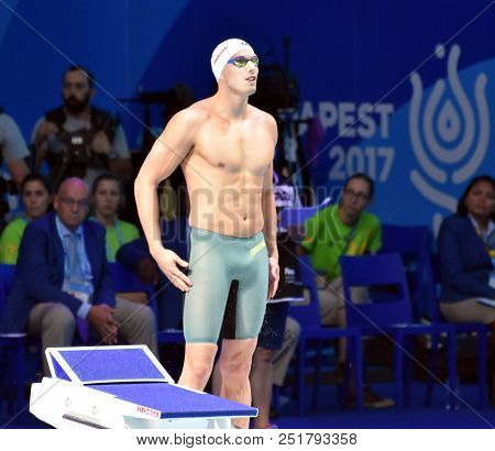 Budapest, Hungary - Jul 25, 2017. Competitive Swimmer Kozma Dominik (hun) In The 200m Freestyle Fina