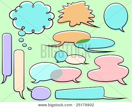 Word balloons vector illustration