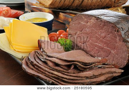 Roast Beef Sandwich Fixings