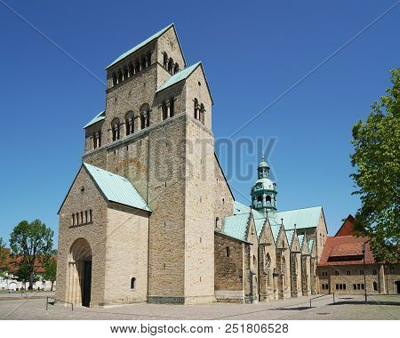 Hildesheim Cathedral Is A Medieval Roman Catholic Church Building In Romanesque Architecture Style I