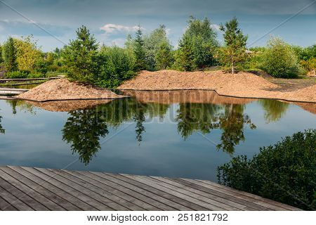 Place For Chillout Outdoor On Lake With Pier