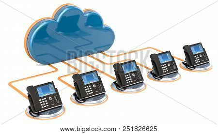Voip Communication Concept. 3d Rendering Isolated On White Background