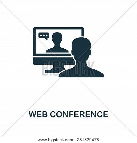 Web Conference Creative Icon. Simple Element Illustration. Web Conference Concept Symbol Design From