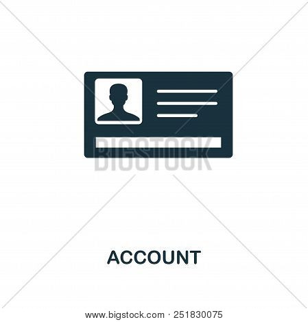 Account Creative Icon. Simple Element Illustration. Account Concept Symbol Design From Contact Us Co