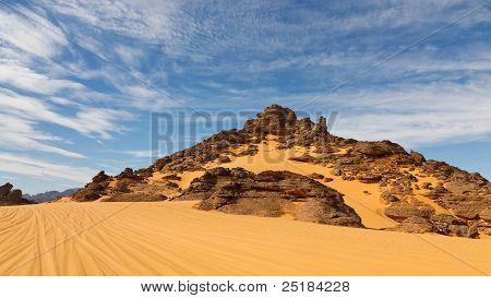 Rock Formations In The Akakus Mountains, Sahara Desert, Libya