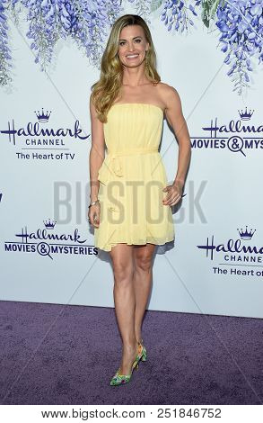 LOS ANGELES - JUL 26:  Brooke D'Orsay arrives to the Hallmark Channel Summer TCA Event  on July 26, 2018 in Hollywood, CA
