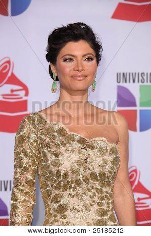 LOS ANGELES - NOV 10:  Chiquinquira Delgado arrives at the 12th Annual Latin GRAMMY Awards at Mandalay Bay on November 10, 2011 in Las Vegas, NV
