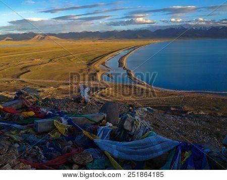 Namtso Or Lake Nam (heavenly Lake) Is A Mountain Lake On Border Between Damxung And Baingoin County