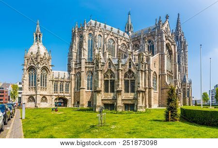 View At The Church Of Saint Peter And Paul In Ostend, Belgium