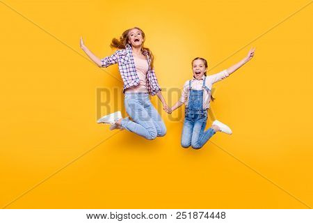 Mom Mum Mommy Maternity Two People Best Friendship Upbringing Rejoicing Concept. Full Length Size Po
