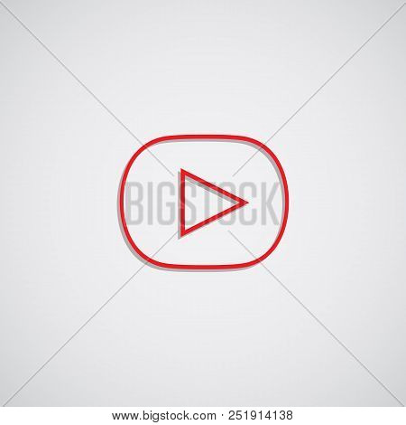 The Isolated Red Player Button. Vector Illustrator. Eps10.