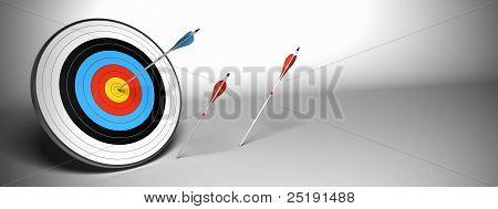 Target and arrow horizontal banner