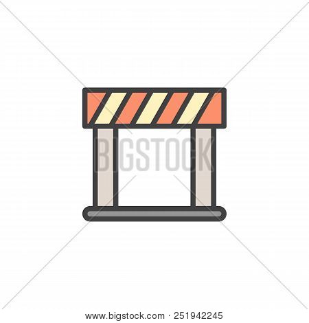 Barrier Filled Outline Icon, Line Vector Sign, Linear Colorful Pictogram Isolated On White. Security