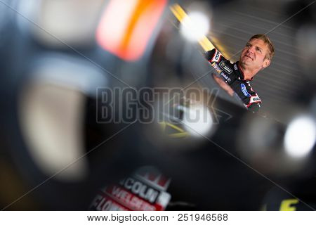 July 28, 2018 - Long Pond, Pennsylvania, USA: Clint Bowyer (14) gets ready to practice for the Gander Outdoors 400 at Pocono Raceway in Long Pond, Pennsylvania.
