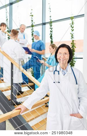 Senior woman as successful chief physician with experience