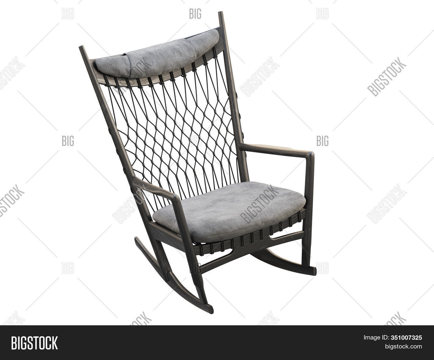 Picture of: Black Wood Rocking Image Photo Free Trial Bigstock