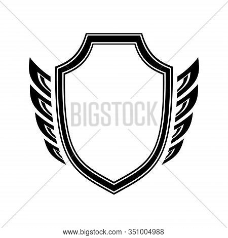 Shield And Wings, Logo, Sign, Symbol Suitable For Security Companies, Security Services, Bodyguard,