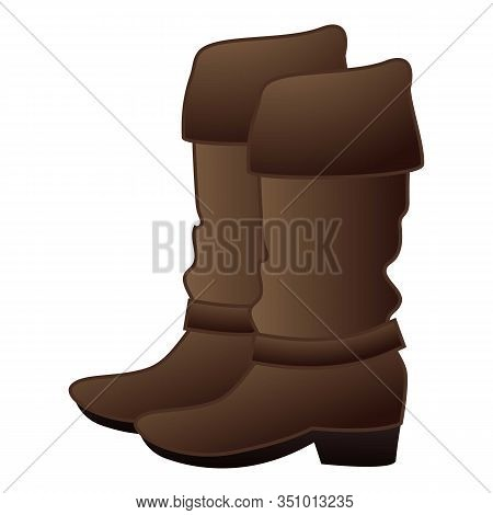 Cowboy Boots Icon. Cartoon Of Cowboy Boots Vector Icon For Web Design Isolated On White Background