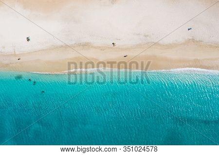 Aerial View Of Laginha Beach In Mindelo City In Sao Vicente Island In Cape Verde