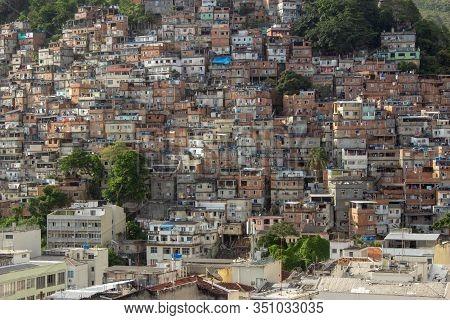 Cantagalo Favela, Located At Copacabana, Rio De Janeiro