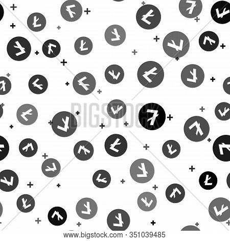 Black Cryptocurrency Coin Litecoin Ltc Icon Seamless Pattern On White Background. Physical Bit Coin.
