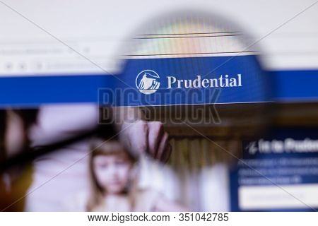 Saint-petersburg, Russia - 18 February 2020: Prudential Financial Company Website Page Logo On Lapto