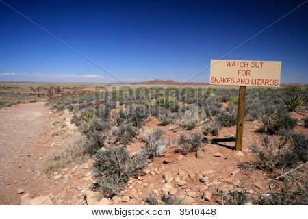 Snakes And Lizards Warning Sign