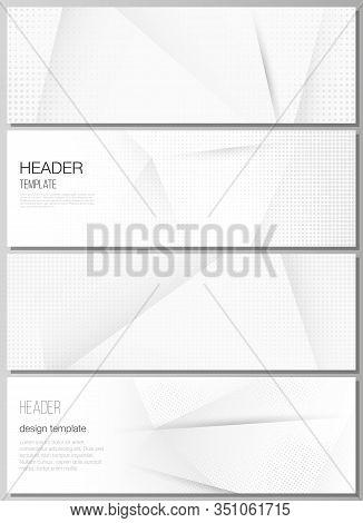 Vector Layout Of Headers, Banner Design Template For Website Footer Design, Horizontal Flyer Design,