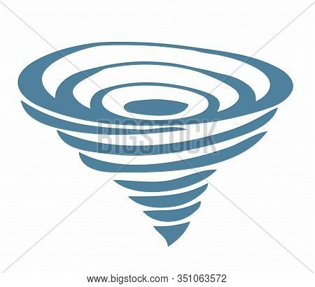 Tornado Icon. Tornado storm icon isolated on a white background. An example of a simple vector of ty
