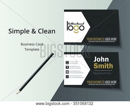 Vector Modern Creative And Clean Business Card Template. Personal Business Card With Company Logo. C