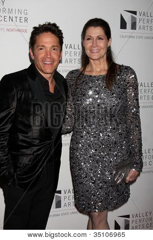 LOS ANGELES - JAN 29:  Dave Koz, Monica Mancini arrives at the Valley Performing Arts Center Opening Gala at California State University, Northridge on January 29, 2011 in Northridge, CA