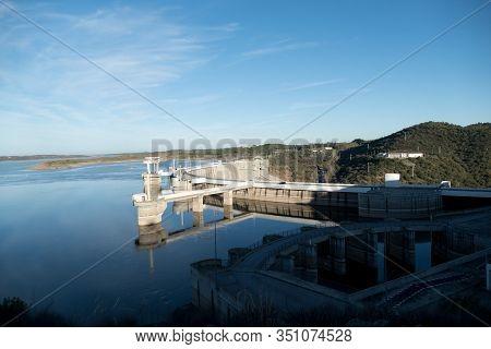 Alqueva Dam In Portugal On The Guardiana River