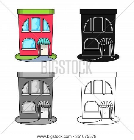 Isolated Object Of Bookstore And Modern Logo. Set Of Bookstore And Shop Vector Icon For Stock.