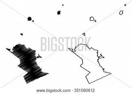 Riviere Du Rempart District (republic Of Mauritius, Island, Districts Of Mauritius) Map Vector Illus