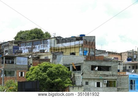 Shacks In The Favela On The Hill