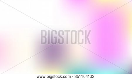 Gradient Mesh Vector Background, Hologram Neon Overlay. Dreamy Pink, Purple, Turquoise Glam Female C